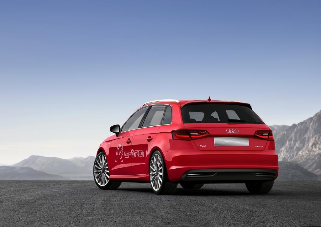 Audi A3 etron vue arrière