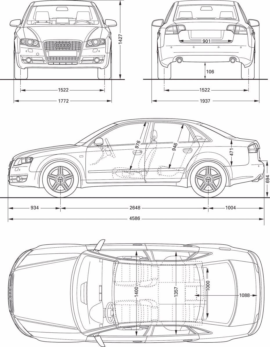 Audi-A4-B7-plan