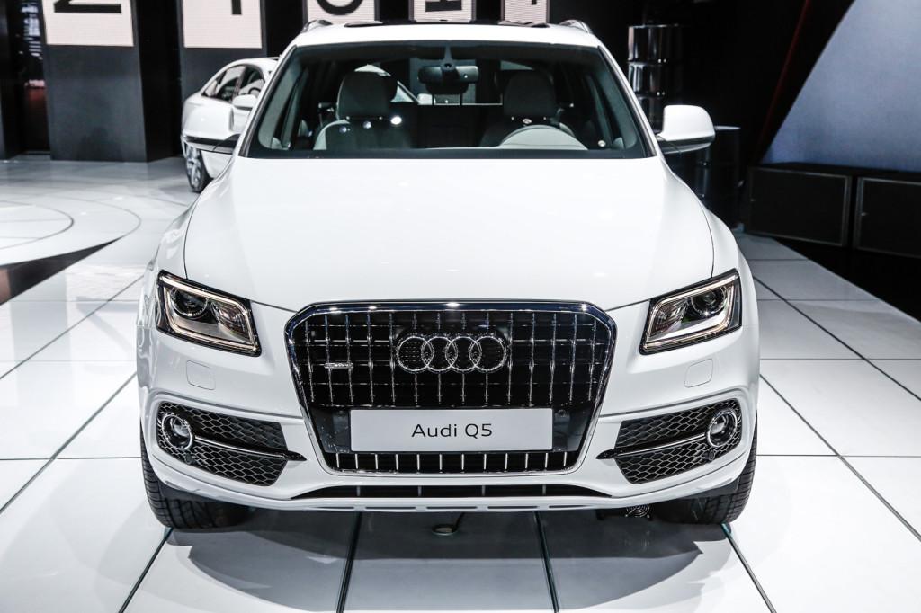 Audi Q5 Blanche vue de face