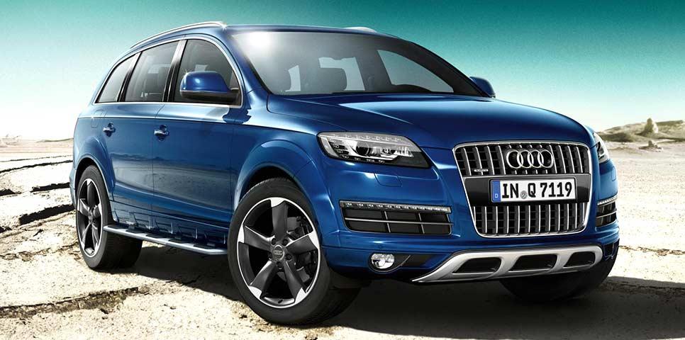 Audi Q7 Bleu