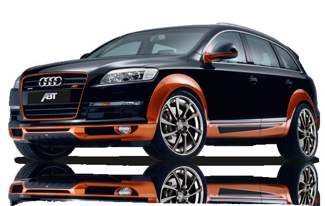 Audi Q7 Bleu avec bas orange